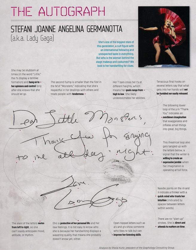lady gaga autograph - photo #43